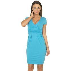 8310 Sukienka turkusowa - Niebieski