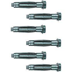 Kołki rozporowe metalowe ze śrubą Hama 118612, 6 szt.