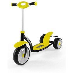 MILLY MALLY Hulajnoga trójkołowa Crazy Scooter żółta