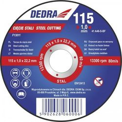 Tarcza do cięcia DEDRA F13052 230 x 2 x 22.2 mm do stali
