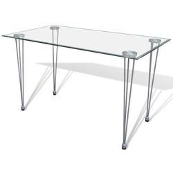 vidaXL Stół ze szklanym blatem Darmowa wysyłka i zwroty