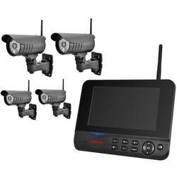 MS70-4 - Zestaw do bezprzewodowego monitoringu cztery kamery i monitor LCD - android/iphone
