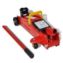 Podłogowy podnośnik hydrauliczny do wózków, czerwony, 2 t Zapisz się do naszego Newslettera i odbierz voucher 20 PLN na zakupy w VidaXL!