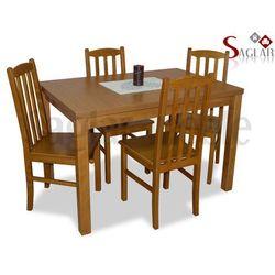 Zestaw SEGRE II 4 krzesła i stół 80x120/150