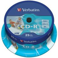 Płyta VERBATIM CD-R AZO Wide Inkjet Printable