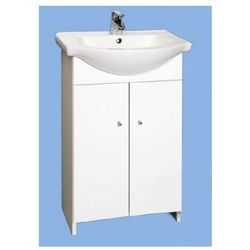 DEFTRANS POLA Zestaw łazienkowy biała szafka D50 bez cokołu + umywalka 032-D-05017+1120