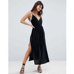 79a8f8893c0 suknie sukienki sukienka z dwoma falbanami black (od ASOS DESIGN ...