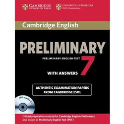 Cambridge English Preliminary PET 7 with answers and CD (opr. miękka)