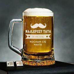 Najlepszy Tata - Personalizowany Kufel - Kufel do piwa