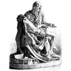 Naklejka Michelangelo's Pieta starożytny grawerowania (wektor)