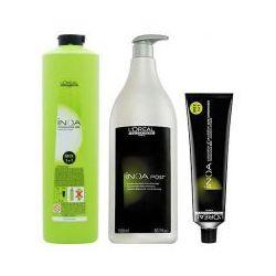 LOREAL INOA, Zestaw: farba + oxydant + szampon 6,11