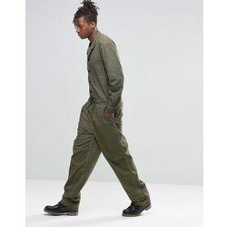 ASOS Boiler Suit In Washed Khaki - Green