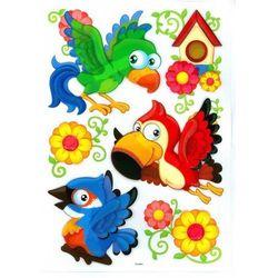 Naklejki 3D na ścianę dla Dzieci Papugi