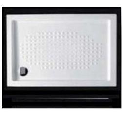 Brodzik ceramiczny Hidra A218 70x90x7 cm, kwardatowy, biały A218
