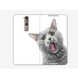 Flex Book Fantastic - ZTE Axon Mini - pokrowiec na telefon - szary kotek
