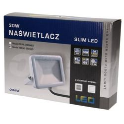 Naświetlacz SLIM LED 30W, IP65, srebrny ORNO