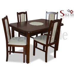Zestaw NIL I 4 krzesła i stół 80x120/150