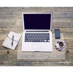 Podkładka na biurko lub stół DESKPAD 60x40cm, mleczna półprzezroczysta