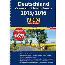 Niemcy 1:200 000. Austria. Szwajcaria. Atlas samochodowy 2015/2016. ADAC