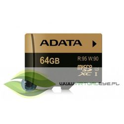 Karta MicroSD ADATA microSDXC, XPG, 64GB, UHS-I U3 (AUSDX64GXUI3-R) Darmowy odbiór w 21 miastach!