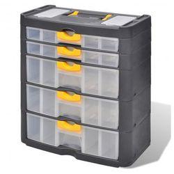 Pojemnik na narzędzia x5 szuflad Zapisz się do naszego Newslettera i odbierz voucher 20 PLN na zakupy w VidaXL!