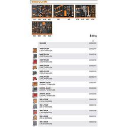 WÓZEK NARZĘDZIOWY 2400/C24SL Z ZESTAWEM NARZĘDZI, 152 ELEMENTY, MODEL 2400SAXL7-R/VU2M, CZERWONY