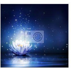 Obraz magiczny kwiat na wodzie - niebieski