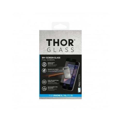 Szkło THOR Glass Full Screen do Apple iPhone 6/6S/7/8 Czarny