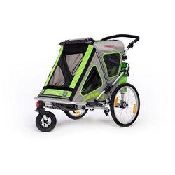 Qeridoo przyczepka rowerowa SpeedKid 2 green model 2016 - Gwarancja terminu lub 50 zł! - Bezpłatny odbiór osobisty: Wrocław, Warszawa, Katowice, Kraków