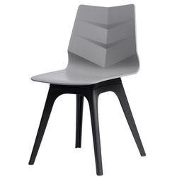 Krzesło Leaf z czarną podstawą - szary