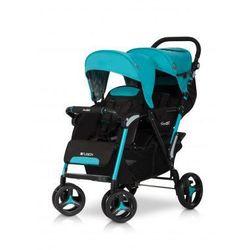 Easy Go Wózek dziecięcy bliźniaczy spacerówka Fusion Malachite