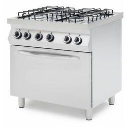 Kuchnia gazowa z piekarnikiem elektrycznym | 4 palniki | 800x700x900mm