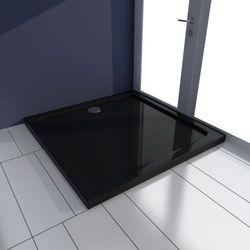 vidaXL Kwadratowy brodzik prysznicowy ABS czarny 80 x cm Darmowa wysyłka i zwroty