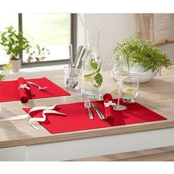 Podkładki pod talerze, 4 sztuki, czerwone