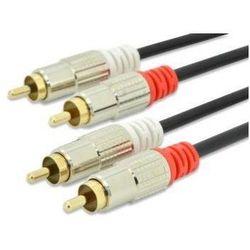 EDNET Kabel połączeniowy Audio Cinch Stereo Typ 2 x RCA/2 x RCA M/M czarny 1,5m