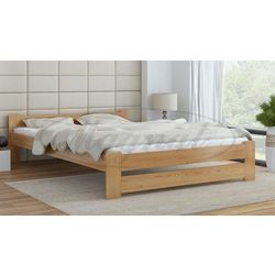 Łóżko drewniane Niwa 140x200 z materacem piankowym