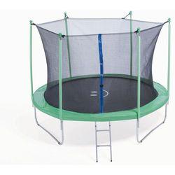 PLATINIUM 244 cm - Zestaw trampoliny z siatką zabezpieczającą - zielony