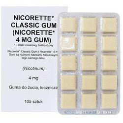 Nicorette Classic Gum guma do żucia lecz. 4 mg 105 szt.