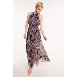 0e63038483 suknie sukienki sukienka maxi w stylu boho granat paisley (od ...
