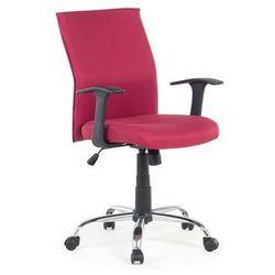 Krzeslo biurowe - czerwone - obrotowe - tapicerowane - do komputera - ELITE