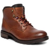 Trzewiki TOMMY HILFIGER - Winter Textured Leather Boot FM0FM02430 Cognac 606