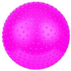 Piłka do masażu SAGGIO FIT śr.65 cm + pompka Spokey (różowa)