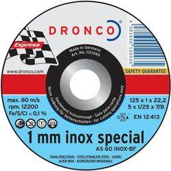 Tarcza do cięcia metalu AS60TINOX Dronco 6900945-100, 125 x 1 mm, 10 szt.
