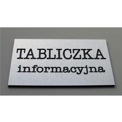 Tabliczki informacyjne na drzwi z aluminium 18x6cm