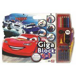 AS Company Giga blok - kolorowanka Cars z kredkami, farbami i naklejkami