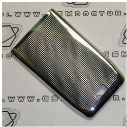 Obudowa Nokia E51 tylna / pokrywa baterii stalowa srebrna