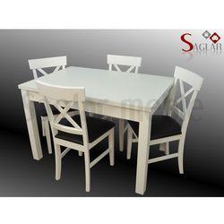 Zestaw VIENNE V 4 białe krzesła i stół 80x120