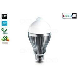 LED żarówka E27 czujnik 8W LED8090IR-WC zimny 6kK KUP NAJTANIEJ