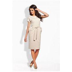 L129 beżowa sukienka