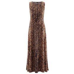 Sukienka z ćwiekami bonprix jasnobrązowy leo